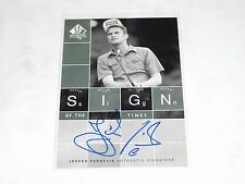 2002 SP Sign of the Times JESPER PARNEVIK On Card Autograph/900 Sweden PGA Golf
