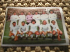 REAL MADRID TEAM CARD 1975/76 FÚTBOL FRENCH ALBUM NO PANINI FIGURILLA 75/76