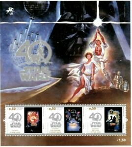 Portugal 2017 - Star Wars 40th Anniversary - Souvenir Sheet - MNH