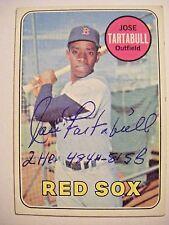 JOSE TARTABULL signed RED SOX 1969 Topps baseball card AUTO Autographed A's CUBA