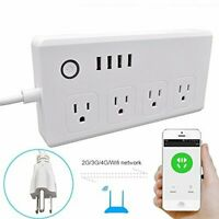 WiFi Smart Power Strip Conico Surge Protector 4 USB Charging Ports White