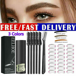 AU Stencils One Step Brow Stamp Shaping Kit Eyebrow Stamp Shaping Makeup Set New