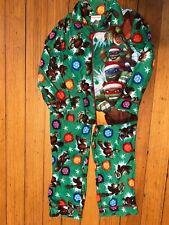 Nickelodeon boys polyester multicolor Santa Ninja design 2 piece pajamas size 6