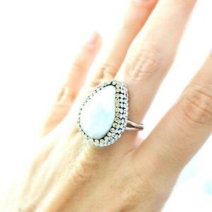 Natural Baroque Pearls Swarovski Druzy Ring Wedding Turkish Woman Jewelry 2133