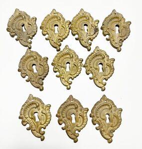 Ten large keyhole escutcheons French style antique reproduction