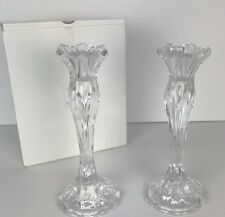 Cristal Durand Jg Candle Stick Holders Crystal Candlesticks Pair Made in France