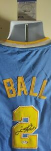 Lonzo Ball UCLA Bruins Autographed Signed Adidas Jersey PSA/DNA Certified PROOF