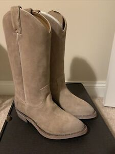 Frye Billy Pull On Women's Size 6.5M Beige Suede Western Boots New In Box