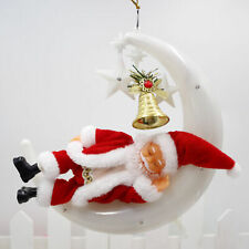 Light Music Ornaments Electric Snoring Sleeping Moon Christmas Doll Decor Gift M