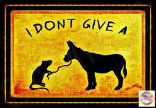 *I DON'T GIVE A RAT'S ASS* METAL SIGN 8X12 MAN CAVE FUNNY BAR ROOM BOSS OFFICE