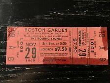 Rolling Stones 1969 FULL UNUSED TICKET Boston Garden ORIGINAL RARE 11/29/69