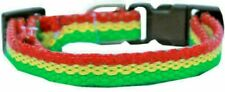 "Rasta Nylon 3/8"" Wide Dog Collar Small Neck 10"" to 14"""