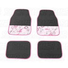 CarPoint CPT0318161 ladyline Universal Coche Tapetes 4 piezas Flor Rosa
