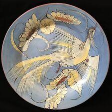 "XXL 20"" Grabber Bird Wall Platter ~ Tonala Burnished Mexican Pottery 1920-40"