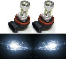LED 80W H11 White 5000K Two Bulbs Head Light High Beam Replacement Show Use