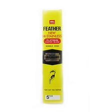 100 x Feather Razor Shaving Blades HI-STAINLESS Double edge Platinum coated BEST