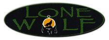 Motorcycle Helmet Stickers Decals: Lone Wolf | Loner, Nomad Biker