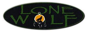 Motorrad Helm Sticker Aufkleber: Lone Wolf Loner, Nomad Biker