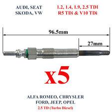 5 BOUGIES pour VW Touareg R5 2,5 l 2,5l Tdi 163 174ch T5 Transporter Caravelle
