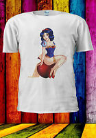 Pinup Disney Princess Sexy Snow White T-shirt Vest Tank Top Men Women Unisex 514
