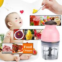 Mini Baby Food Processor Electric Blender Chopper Mixer Feeding Tool Vegetables