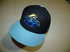 Trenton Thunder MiLB Black Hat/Blue Brim New Era 59Fifty Textured Fitted 7 3/8