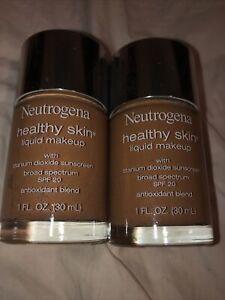 0086800438038 Neutrogena 2 NIB Healthy Skin Cocoa Makeup 115 BRAND NEW PERFECT!!