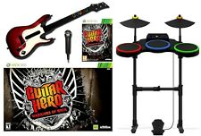 XBox 360 WARRIORS OF ROCK Game Band Bundle Set w/Guitar/Drum/Mic WOR microsoft