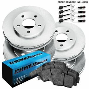 For Mercedes-Benz CL500, S500, S430 Front Rear  Blank Brake Rotors+Ceramic Pads