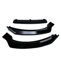 For 2013-2016 Ford Fusion Mondeo Front Bumper Lip Body Kit Spoiler Gloss Black