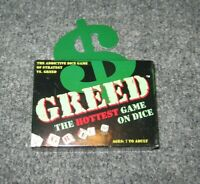 GREED The Addictive Dice Game of Strategy vs Greed NEW 2000 Vintage Sealed NICE