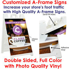 2 PERSONALIZED CUSTOM PRINT A FRAME DURABLE SIGNS DOUBLE SIDED 24x36 Vinyl Print