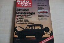 3) Auto Motor und Sport 08/1980 - Toyota Land Cruiser m - VW Iltis mit 75PS bes