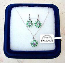 Collana e Orecchini da donna oro bianco 18K zirconi cristalli swarovski veri SW6