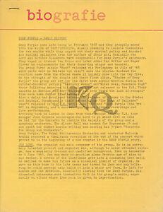 Deep Purple - Biografie - 1969 [Holland] - Press Kit