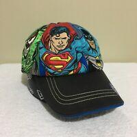 DC Comics Superman Batman Flash Movie World Warner Bros Mens Baseball Cap Hat