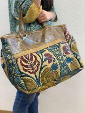 Shopper Leder Stoff Vintage Leder Tasche Damen Unikat Handmade Musterteil!!!