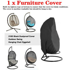 Single Hanging Swing Chair Table Cover Rattan Egg Seat Protect Outdoor Furniture