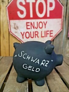 Sparschwein 17 cm  mit Kreide beschreibbar Spardose Sparbüchse Tafel Kreide