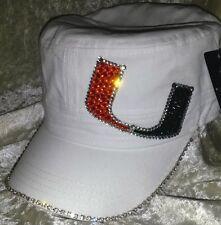 Miami Hurricanes Women's Ladies Rhinestone Bling NCAA Cap Hat ~NEW~