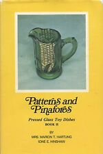 Pressed Glass Children's Toy Dishes - Pattern Identification / Scarce Book