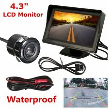 4.3'' Car Rear View LCD Monitor + Night Vision Reverse Parking Backup Camera Kit