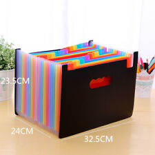 24 Pocket A4 Office Expanding File Box Folder Document Organiser GR