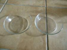 2 x Dessertschalen/Dessertteller, Kristall / Glas, klar 14,5 x 3 cm TOP