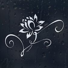 Fiore Bianco Ninfea Auto Decalcomania in Vinile Adesivo Per Finestra Paraurti Pannello Laptop