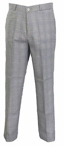 Relco Mens Prince of Wales 60S 70S Retro Mod Vintage Sta Press Trousers