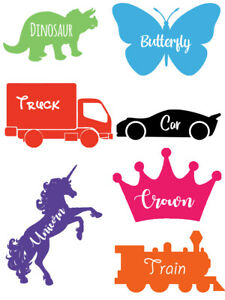 Picture Vinyl Name Stickers Labels For Bottle Cup Tubs Organise Personalise Kids