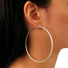 Large Hoops 925 Sterling Silver Circle Earrings