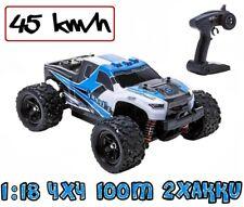 Blij´r Speed´r Blau ferngesteuertes RC Auto 45 km/h, 1:18, 2 Akkus, Allrad, 100m