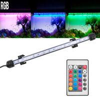 RGB Waterproof Aquarium LED Fish Tank Light Bar Submersible Strip Lamp + Remote